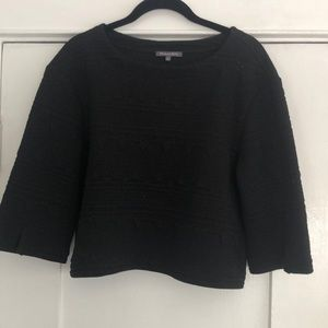 3/4 Sleeve Cropped Top | funky black stitching